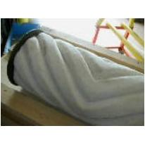 Premontato 600 lana feltro bianca